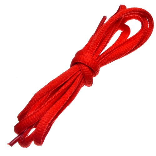 Top oval shoe laces for sneakers red