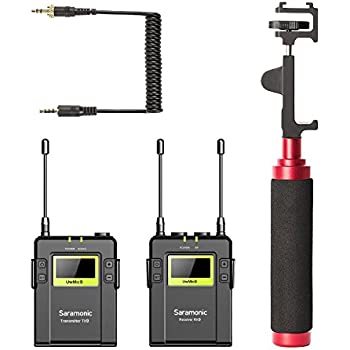 movo smartphone video kit with wireless microphone system rx9 xlr9 phone holder. Black Bedroom Furniture Sets. Home Design Ideas