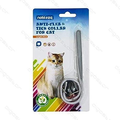 Collar antiparasitario para gato contra pulgas y garrapatas y ácaros - Medida 36 cm con sistema antiasfixia y reflectante: Amazon.es: Productos para ...