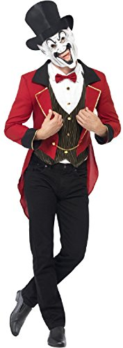 Mens Sinister Creepy Evil Ringmaster Circus Lion Tamer Halloween Carnival Fancy Dress Costume Outfit (Men: Large) ()