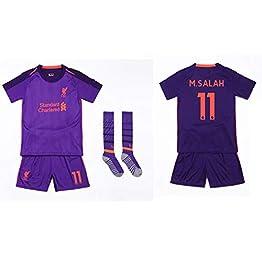 DIANDIAN Maillot de Football N °11 Maillot De Foot Costume Garçon Fille À Manches Courtes Enfants Compétition Entraînement Chaussettes en Jersey