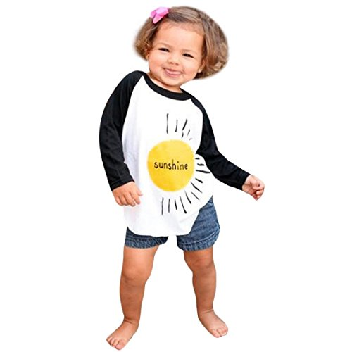 Kehen Parent-Child Outfit,Sunshine Printing Long Sleeve Shirts Tops Family Matching Costume (Baby, 3T (Family Matching Costumes)