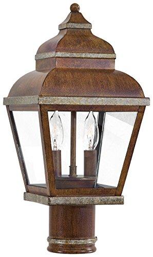 Minka Lavery Outdoor 8266-161, Mossoro Outdoor Post Lighting, 120 Total Watts, Mossoro Walnut