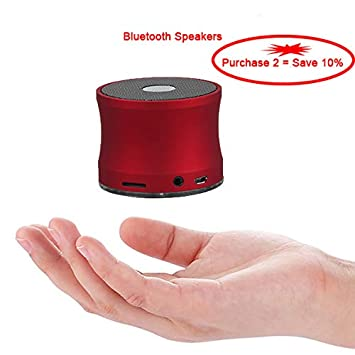EWA Audio A109 Aviación Acero Portátil Inalámbrico Bluetooth Altavoz Manos Libres [] de Graves Mejorado