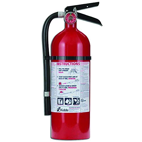 Kidde 21005779 Pro 210 Fire Extinguisher, ABC, 160CI, 4 lbs, 1 Pack (Fired Gas Boiler)