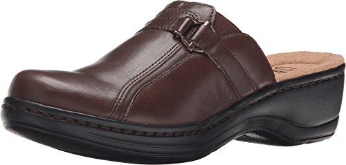 Clarks Women's Hayla Marina Brown Leather Clog/Mule 8 2A ...