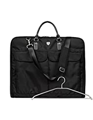 """BAGSMART Breathable 22-25""""Foldable Garment Bag for Suits and Dresses with Pocket"""