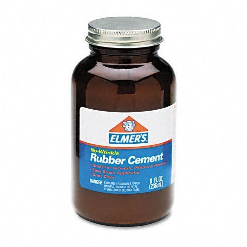 Elmer`s : Rubber Cement, Repositionable, 8 oz -:- Sold as 2 Packs of - 1 - / - Total of 2 Each