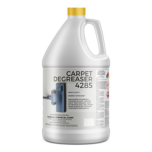 Carpet Degreaser Solution 4285 by CarpetGeneral   Multi Purpose Cleaning Liquid   Removes Stains   Heavy Duty   Non-Toxic Formula   Residential & Commercial Use   1 Gallon from CarpetGeneral