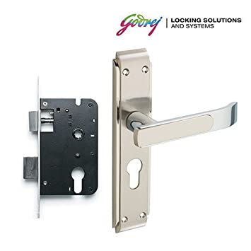 Ordinaire Buy Godrej Gloria Satin 20cm Steel 2 Tone Door Handle With Lock Set Online  At Low Prices In India   Amazon.in