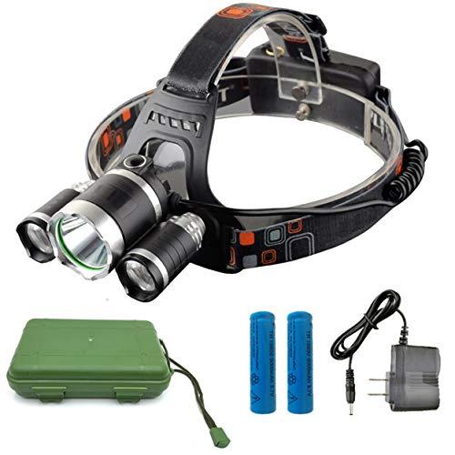 (1 Pack 13000 Lumen 50W 4 Mode T6 LED Headlamp Ultra Xtreme Waterproof Headlights Monumental Fashionable High Lumens Bright Light Hiking Running Hunting Camping Tactical Flashlight, Type-06)