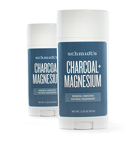 Schmidt's Natural Deodorant - Charcoal + Magnesium 3.25 Oz Stick (Pack of 2)