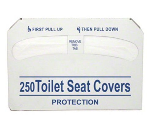 Toilet Seat Covers, Half Fold, 250 pcs, Set of 3 Bags
