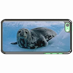 iPhone 5C Black Hardshell Case north Desin Images Protector Back Cover