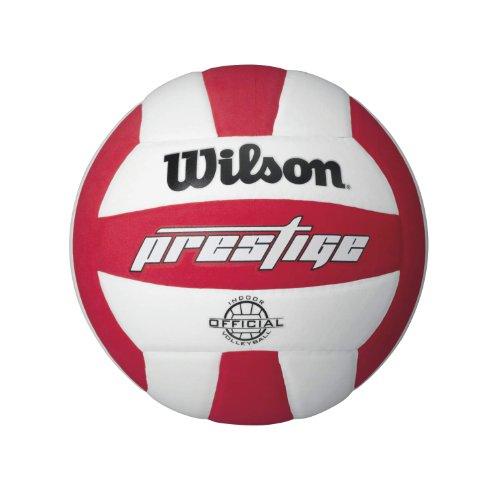 (Wilson Prestige Volleyball, White/Red)