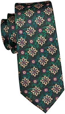 KYDCB Corbata Jacquare Verde Tejido Corbatas para los Hombres de ...