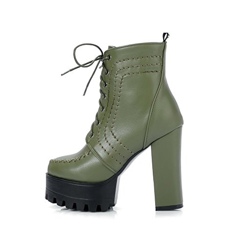Balamasa Moda Donna Piattaforma Solida Stivali Uretano Verde