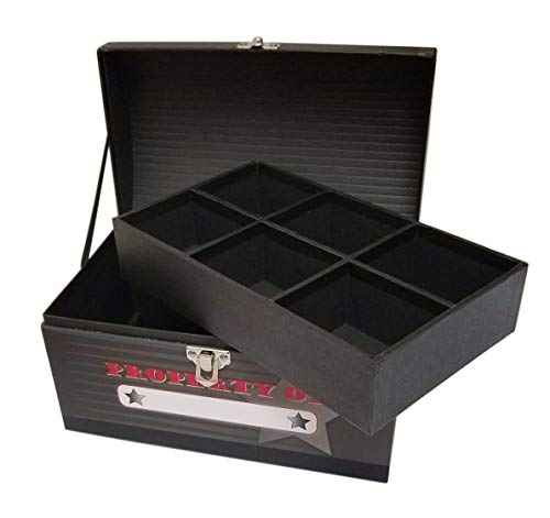 - My Tiny Treasures Box Co Storage Box for Trading Cards with Card Organizer