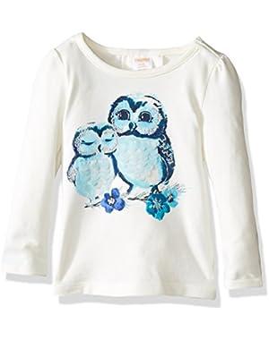 Baby Girls' Owls Graphic Tee