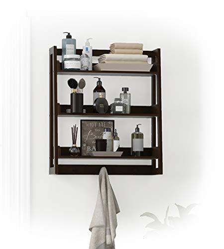 espresso bathroom shelf - 8