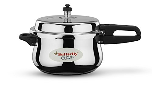 Butterfly Curve Stainless Steel Pressure Cooker, 5.5 Litre Price & Reviews