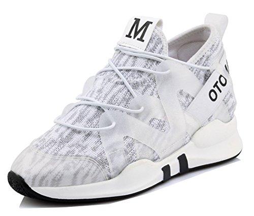 pretty nice 19df7 0b003 Aisun Kvinna Kör Sneakers - Tillfällig Tjock Sula - Rund Tå Snörning Skor  Vita