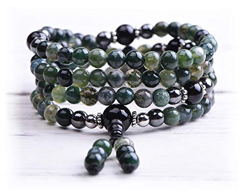 Mala Beads - Chakra Stones - Buddha Necklace - Yoga Jewelry - Meditation Beads - Tassel Necklace - Tibetan Bracelet - Agate Mala