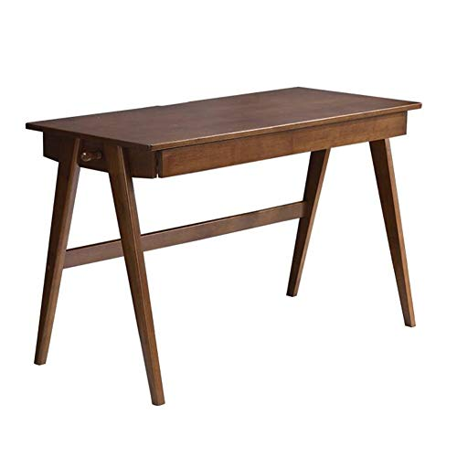 Living Room Furniture Writing Desk Computer Desks Study Dining Gaming Tables Home Office Table with Drawer CJC (Color : Walnut Color, Size : 100x55x75cm) ()