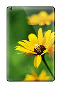Hot Snap-on Yellow Summer Flowers Hard Cover Case/ Protective Case For Ipad Mini/mini 2