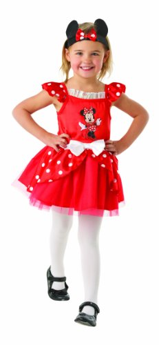 1-2 Years Red Girls Minnie Mouse Ballerina Costume ()