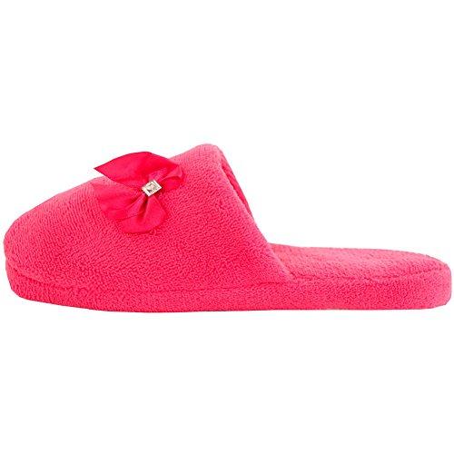 Doudou Confortable En Peluche De Sport Sur Les Pantoufles De Maison Rose Plein