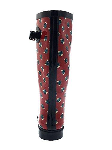 pour de Longueur pluie en caoutchouc Bottes au Bottes neige de femme genou Ux6ECqCgw