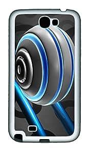 Samsung Note II Case 3D Pinball Rollercoaster TPU Custom Samsung Note 2 Case Cover White