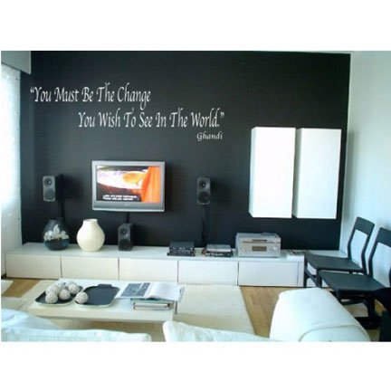- WS00134 Ghandi Quote Terracotta Vinyl Graphic Wall Decal Sticker