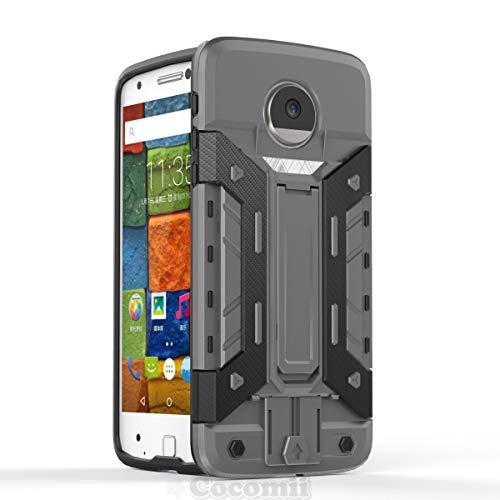 Cocomii Transformer Armor Motorola Moto Z/Z Droid Case New [Heavy Duty] Premium Built-in Multi Card Holder Kickstand Shockproof Bumper [Military Defender] Full Body Rugged Cover for Moto Z - Designer Mod Rub