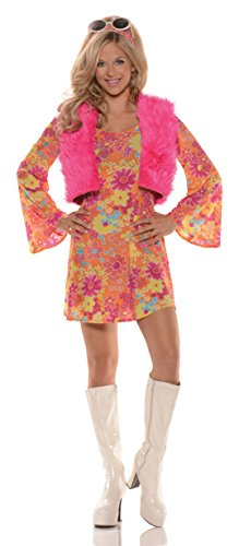 Women's Flirty Retro Hippie Costume - Pretty in -