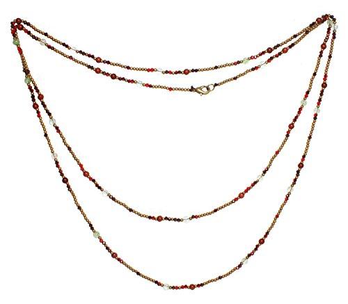 Bijoux De Ja Multi Color Gemstone Beads Strand Rope Necklace 50 - Side Upper West Store Jewelry