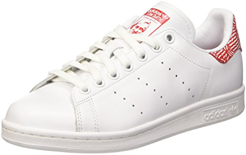 Donna White Stan White Red Sneaker collegiate ftwr Adidas Smith ftwr Bianco wtfO8