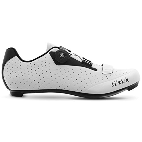 Fizik Men's R5B Uomo BOA Road Cycling Shoes – White/Black (White/Black – 42) For Sale