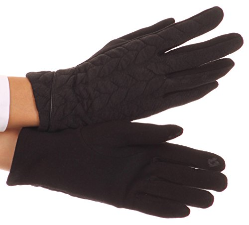Sakkas CMZ1524 - Paislee Extra Soft Knitted Touch Screen Wrist Length Winter Glove - Black - L/XL