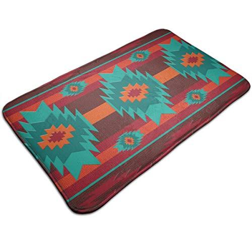Jhgsjnsf Southwestern Navajo Tribal Pattern Door Mat Entrance Mat Floor Mat Rug Indoor/Outdoor/Front Door/Bathroom Mats Rubber Non Slip 19.7x31.5 Inches.