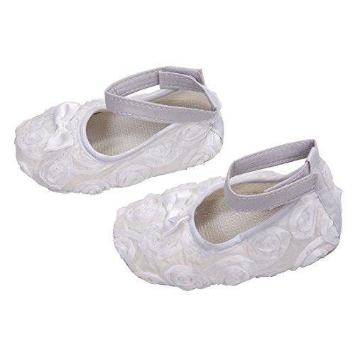 Zapatos - SODIAL(R)zapatos comodos de nino pequeno de princesa antideslizantes(12-18 meses, blanco)