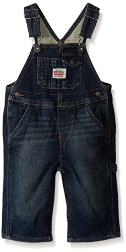 Baby Denim Boys Overall - Levi's Baby Boys' Denim Overalls, Inky Shades, 18 Months