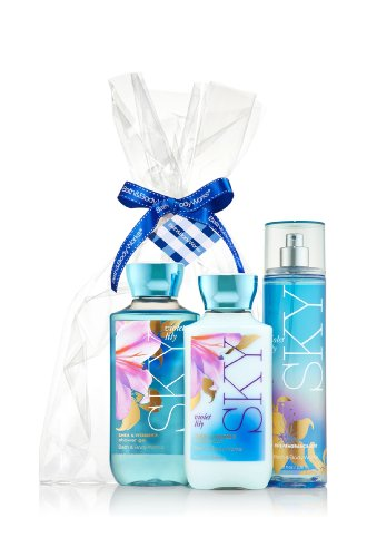 BATH AND BODY WORKS..SKY VIOLET LILY,GIFT SET...FREE SHIPPING..!!! (And Bath Violet Sky Works Body)