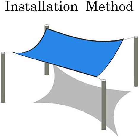 CYY 90% Resistente Ai Raggi UV Blu Rettangolo Rete Ombreggiante con Occhielli,Telo Ombra Protezione Antivento,per Coperture Balcone Pergola(10x20ft/3x6m)