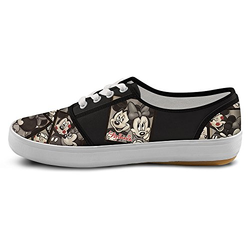 2015 new cheap online free shipping 2014 Disney Caught In The Moment Mickey And Minnie Women's Canvas Shoes by The Bradford Exchange Multicoloured 4XYGkiRPx