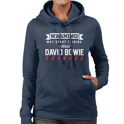 Warning May Start Talking About David Bowie Women's Hooded Sweatshirt