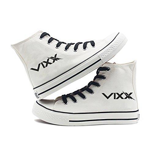 Fanstown Kpop Sneakers Canvas Schoenen Dames Maat Wit Fanshion Memeber Hiphop Stijl Support Voor Fans Met Lomo Card Vixx