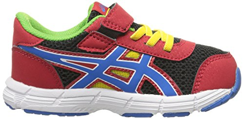 Asics bounder TS Running Shoe (Toddler) Fiery Red/Blue/Black