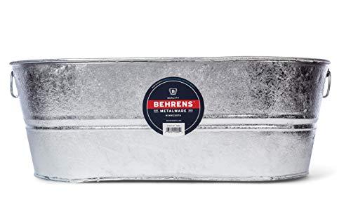 Behrens 2-OV 10-1/2-Gallon Oval Steel Tub (Metal Bin Galvanized)